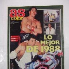 Coleccionismo deportivo: REVISTA AS COLOR. Nº 151. 18 DICIEMBRE 1988. LO MEJOR DE 1988. TDKR42. Lote 176473607