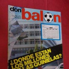 Collezionismo sportivo: DON BALON. Nº 1 . 7 OCTUBRE 1975 . CON POSTER DE SOTIL. Lote 97717719