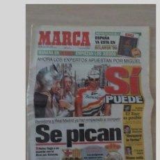 Coleccionismo deportivo: PERIODICO MARCA 14 JULIO 1996..MIGUEL INDURAIN.SI PUEDE. Lote 97778479