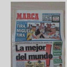 Coleccionismo deportivo: PERIODICO MARCA 13 JULIO 1996..MIGUEL INDURAIN.TIRA MIGUEL. Lote 97778555