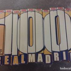 Coleccionismo deportivo: 100 AÑOS DE HISTORIA VIVA DEL REAL MADRID. DIARIO MARCA VHS 10 CINTAS. Lote 97893895