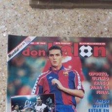 Coleccionismo deportivo: DON BALON Nº 965. POSTER REAL ZARAGOZA. CAMPEON COPA DEL REY 93-94.. Lote 97903603