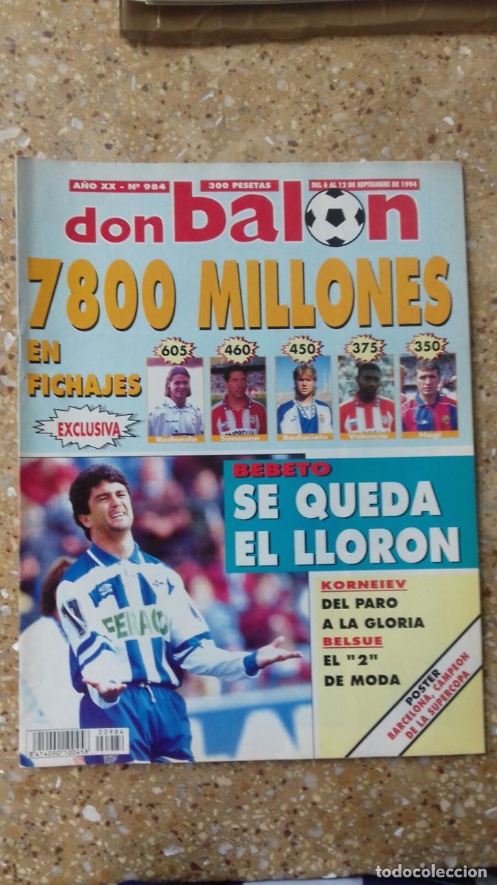 DON BALON Nº 984. POSTER F.C. BARCELONA. CAMPEON SUPERCOPA 93-94. (Coleccionismo Deportivo - Revistas y Periódicos - Don Balón)