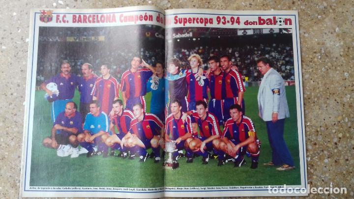 Coleccionismo deportivo: DON BALON Nº 984. POSTER F.C. BARCELONA. CAMPEON SUPERCOPA 93-94. - Foto 2 - 97904075