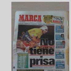 Coleccionismo deportivo: PERIODICO MARCA 30 JUNIO 1996..MIGUEL INDURAIN..NO TIENE PRISA.. Lote 97945907