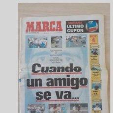 Coleccionismo deportivo: PERIODICO MARCA 21 SEPTIEMBRE 1996..MIGUEL INDURAIN.RETIRADA. Lote 97947027