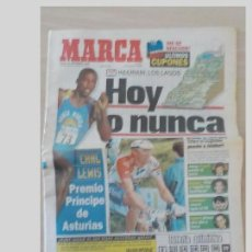 Coleccionismo deportivo: PERIODICO MARCA 20 SEPTIEMBRE 1996..MIGUEL INDURAIN.HOY O NUNCA. Lote 97947215