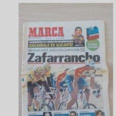 Coleccionismo deportivo: PERIODICO MARCA 19 SEPTIEMBRE 1996..MIGUEL INDURAIN.ZAFARRANCHO.DUELO EN LA MONTAÑA. Lote 97947407