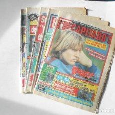 Coleccionismo deportivo: F.C. BARCELONA - 5 DIARIOS SPORT CON PORTADAS DE SCHUSTER - AÑO 1986 - FOTOS DE TODOS - . Lote 98069439