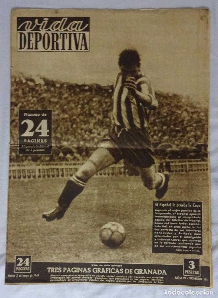 REVISTA VIDA DEPORTIVA. Nº MAYO 1949. GRANADA 2 BARCELONA 2 (Coleccionismo Deportivo - Revistas y Periódicos - Vida Deportiva)