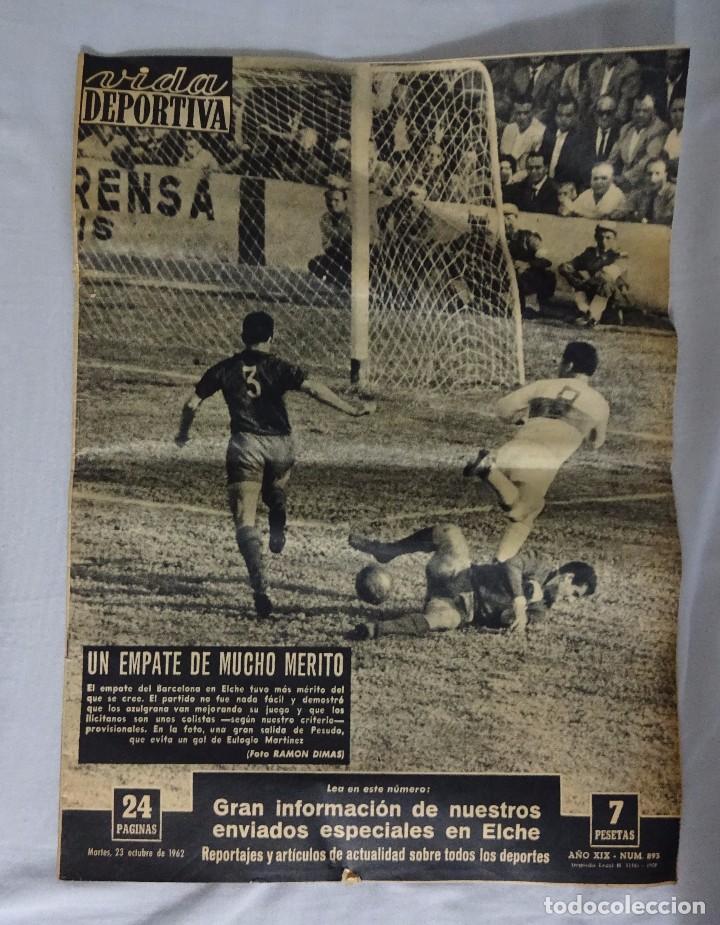 REVISTA VIDA DEPORTIVA. Nº 893 OCTUBRE 1962. ELCHE 1 BARCELONA 1 (Coleccionismo Deportivo - Revistas y Periódicos - Vida Deportiva)