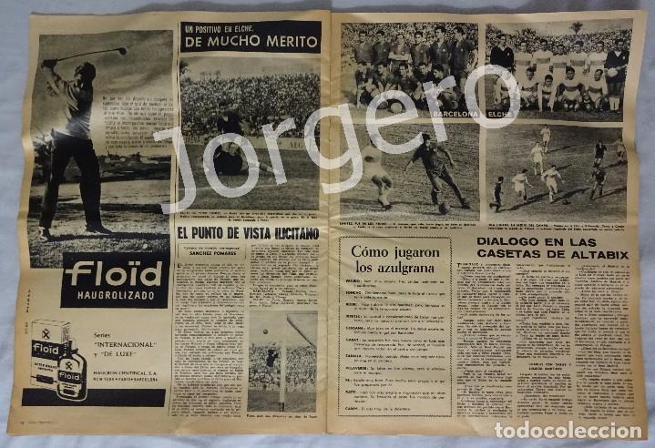 Coleccionismo deportivo: REVISTA VIDA DEPORTIVA. Nº 893 OCTUBRE 1962. ELCHE 1 BARCELONA 1 - Foto 2 - 98209431