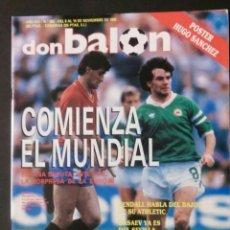 Coleccionismo deportivo: DON BALON 682 POSTER HUGO SANCHEZ APENDICE ESPECIAL. Lote 98252051