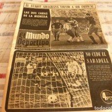 Coleccionismo deportivo: (BD)MUNDO DEPORTIVO(2-12-68)ESPAÑOL 2 PONTEVEDRA 1,CORUÑA 1 BARÇA 0,MENORCA 1 TORTOSA 1.. Lote 98523619