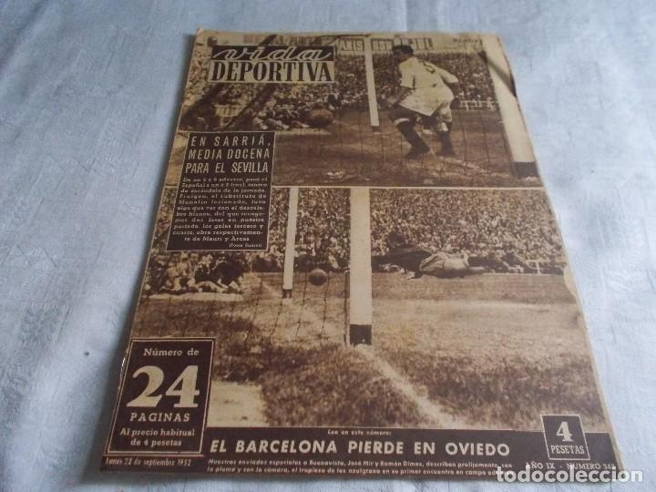 VIDA DEPORTIVA LUNES 22 DE SEPTIEMBRE 1952 (Coleccionismo Deportivo - Revistas y Periódicos - Vida Deportiva)