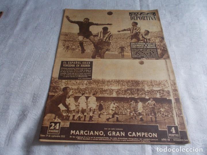 VIDA DEPORTIVA LUNES 29 DE SEPTIEMBRE 1952 (Coleccionismo Deportivo - Revistas y Periódicos - Vida Deportiva)
