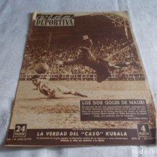 Coleccionismo deportivo: VIDA DEPORTIVA LUNES 6 DE OCTUBRE 1952. Lote 98543423