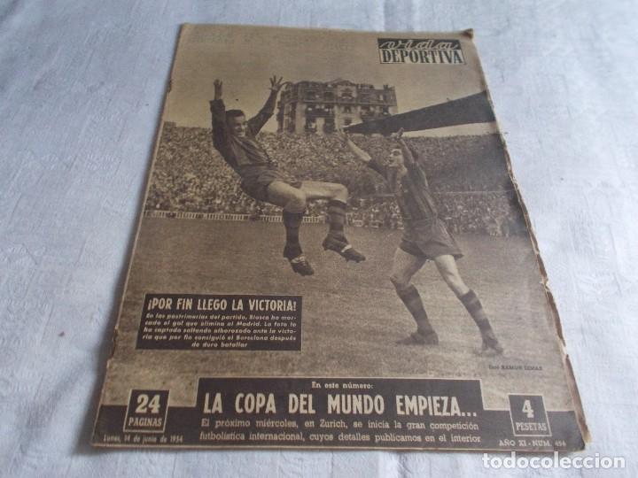 VIDA DEPORTIVA LUNES 14 DE JUNIO DE 1954 (Coleccionismo Deportivo - Revistas y Periódicos - Vida Deportiva)