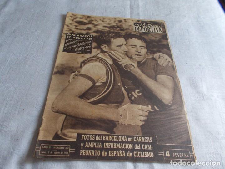 VIDA DEPORTIVA LUNES 3 DE AGOSTO 1953 (Coleccionismo Deportivo - Revistas y Periódicos - Vida Deportiva)