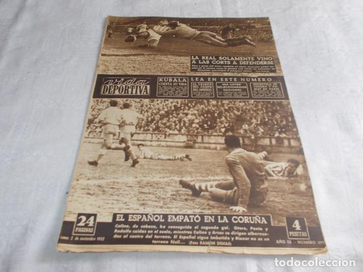 VIDA DEPORTIVA LUNES 2 DE NOVIEMBRE 1952 (Coleccionismo Deportivo - Revistas y Periódicos - Vida Deportiva)