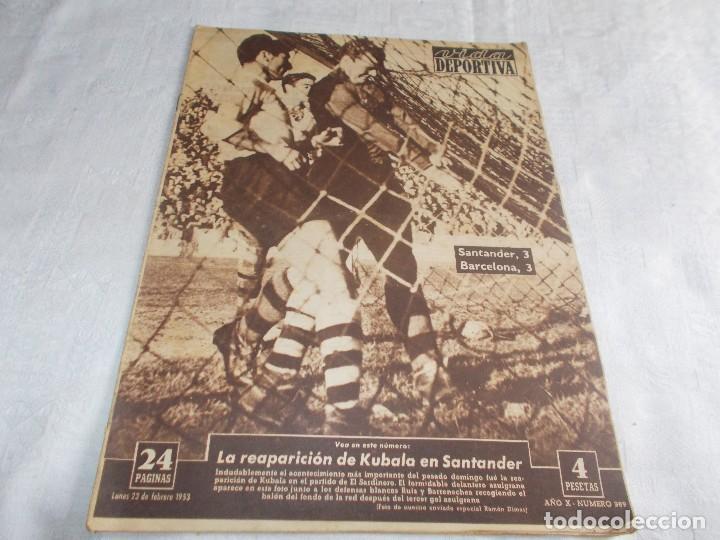 VIDA DEPORTIVA LUNES 23 DE FEBRERO DE1953 (Coleccionismo Deportivo - Revistas y Periódicos - Vida Deportiva)