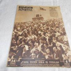 Coleccionismo deportivo: VIDA DEPORTIVA LUNES 6 DE ABRIL1953. Lote 98632167