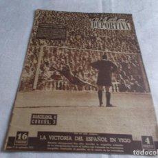 Coleccionismo deportivo: VIDA DEPORTIVA LUNES 15 DE SEPTIEMBRE DE 1952. Lote 98634755
