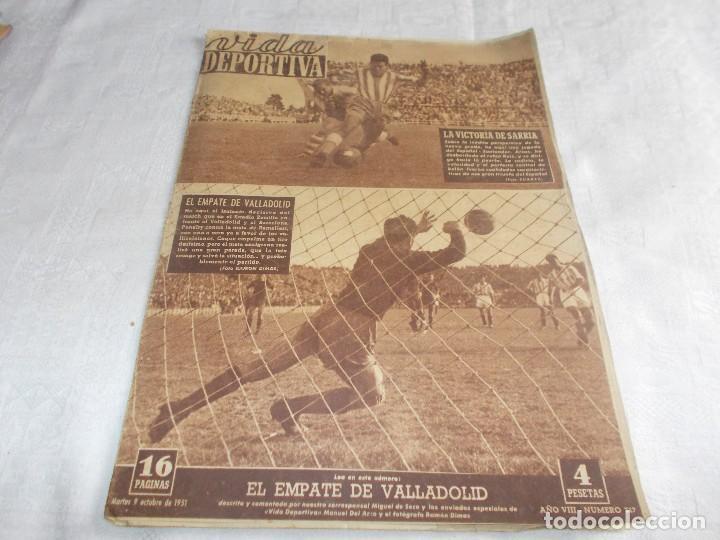 VIDA DEPORTIVA LUNES 9 DE OCTUBRE DE 1951 (Coleccionismo Deportivo - Revistas y Periódicos - Vida Deportiva)