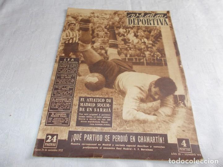 VIDA DEPORTIVA LUNES 24 DE NOVIEMBRE DE 1952 (Coleccionismo Deportivo - Revistas y Periódicos - Vida Deportiva)