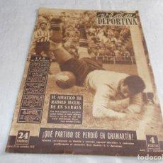 Coleccionismo deportivo: VIDA DEPORTIVA LUNES 24 DE NOVIEMBRE DE 1952. Lote 98667163