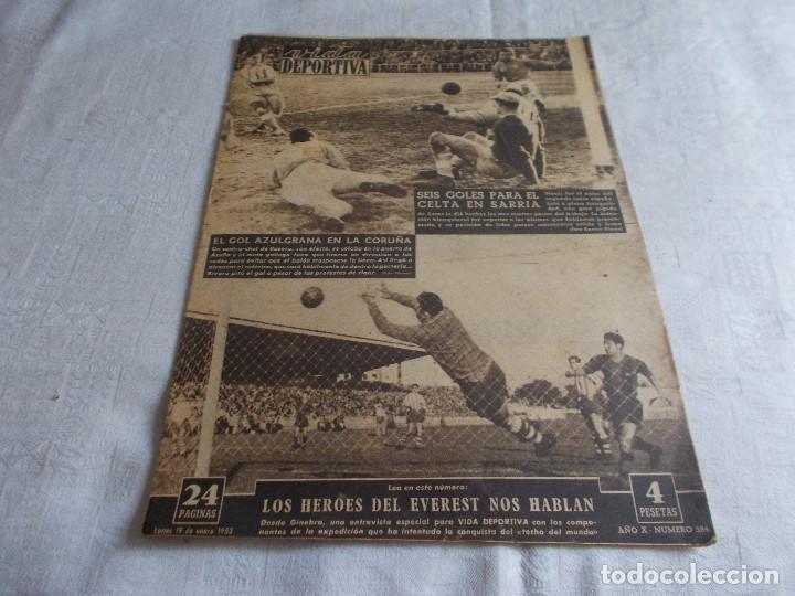 VIDA DEPORTIVA LUNES 19 DE ENERO 1953. (Coleccionismo Deportivo - Revistas y Periódicos - Vida Deportiva)