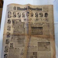 Coleccionismo deportivo: EL MUNDO DEPORTIVO Nº 6951 - VIERNES 1 DE FEBRERO DE 1946. Lote 98801067