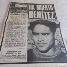 Coleccionismo deportivo: EL MUNDO DEPORTIVO 7 DE ABRIL DE 1968 . Lote 98879019