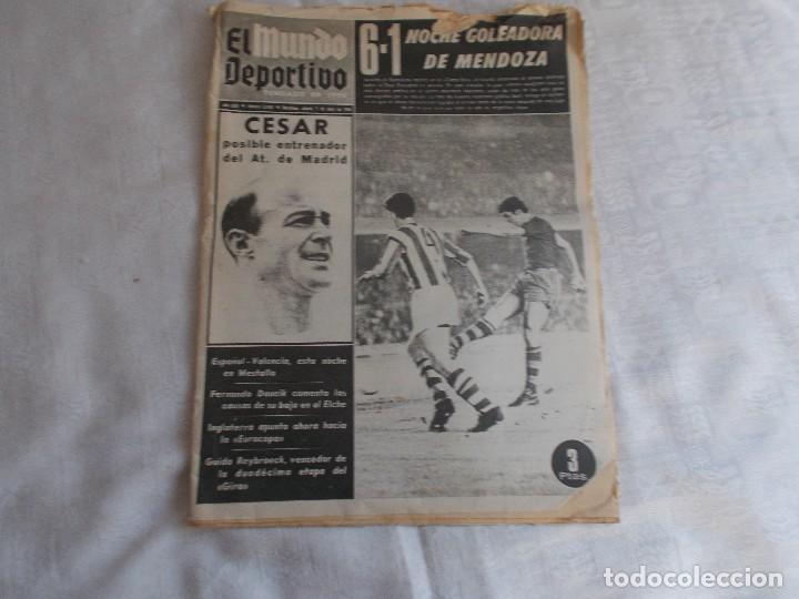 EL MUNDO DEPORTIVO SÁBADO 1 DE JUNIO 1968 (Coleccionismo Deportivo - Revistas y Periódicos - Mundo Deportivo)