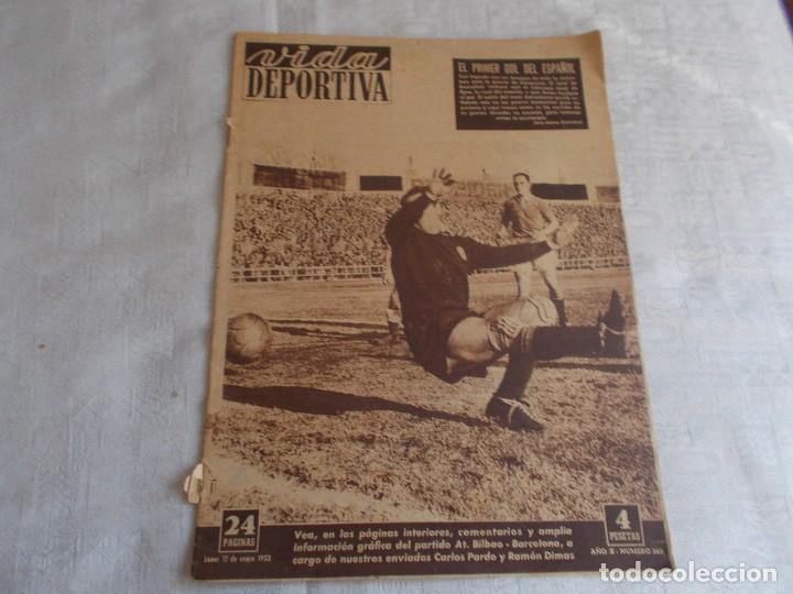VIDA DEPORTIVA 12 DE ENERO 1953 (Coleccionismo Deportivo - Revistas y Periódicos - Vida Deportiva)