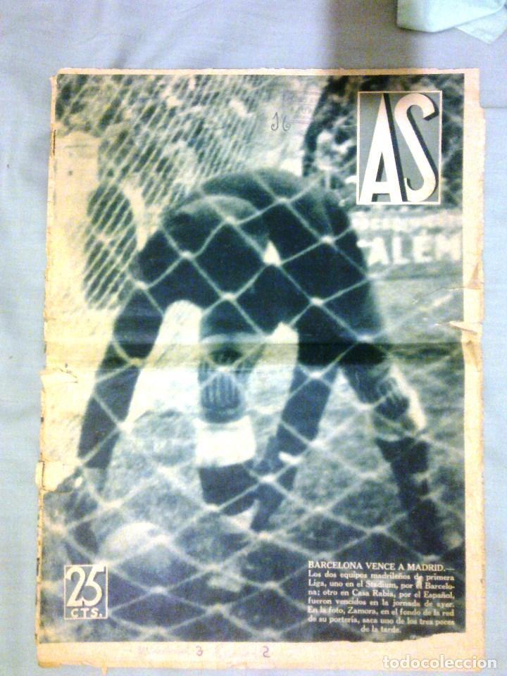 AS - 10 FEBRERO DE 1936 (Coleccionismo Deportivo - Revistas y Periódicos - As)