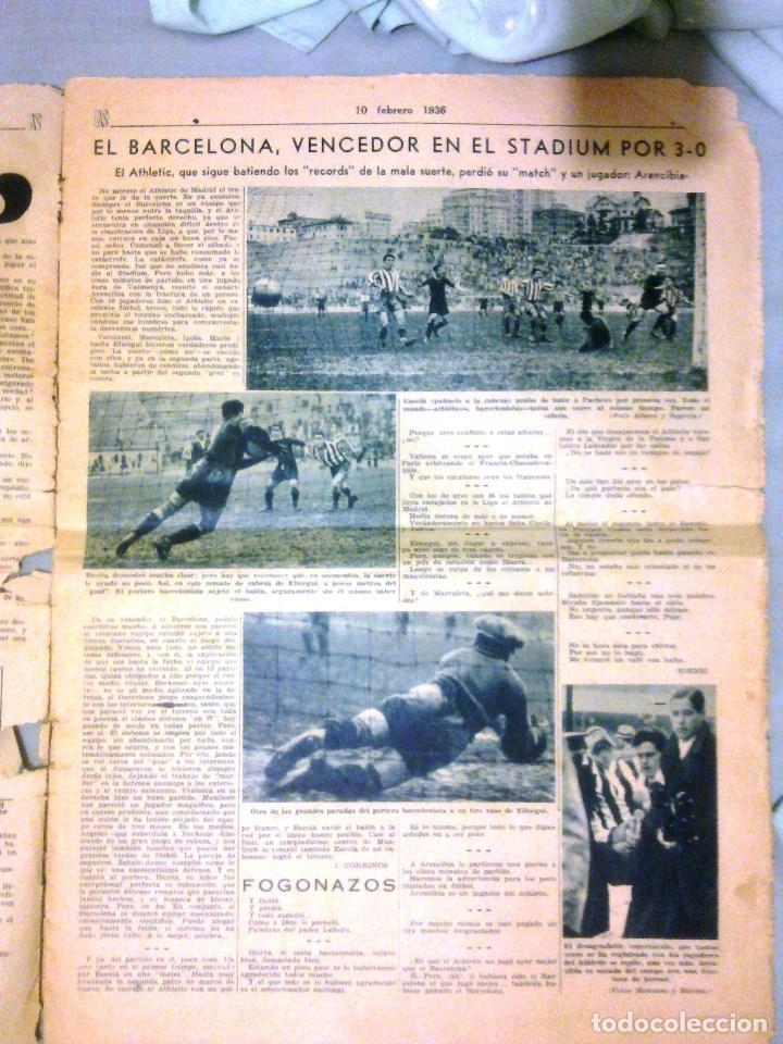 Coleccionismo deportivo: AS - 10 FEBRERO DE 1936 - Foto 3 - 98969799