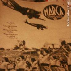 Coleccionismo deportivo: MARCA Nº 38 CICLISMO FUTBOL BOXEO HERCULES MURCIA ESPAÑOL REAL MADRID ZARAGOZA 1939. Lote 99062083