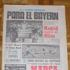 Coleccionismo deportivo: PERIÓDICO MARCA 3 SEPTIEMBRE 1979 FUTBOLTROFEO BERNABEU BAYERN MUNICH REAL MADRID AJAX CLIFFORD LUYK. Lote 99081851