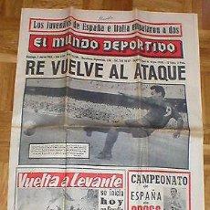 Coleccionismo deportivo: PERIÓDICO EL MUNDO DEPORTIVO 3 MARZO 1963 FUTBOL FC BARCELONA RE BALONCESTO REAL MADRID GAUL RARO !!. Lote 99090907