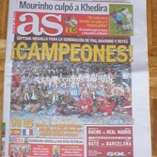 Coleccionismo deportivo: AS 19 SEPTIEMBRE 2011 ESPAÑA CAMPEON EUROPA BALONCESTO LIGA FUTBOL 1ª DIVISION JORNADA 4 NEYMAR MIRA. Lote 99362023