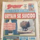 Coleccionismo deportivo: PERIODICO SPORT EL BOXEADOR URTAIN SE SUICIDO BOXEO 1992 POWELL LEWIS. Lote 99910139