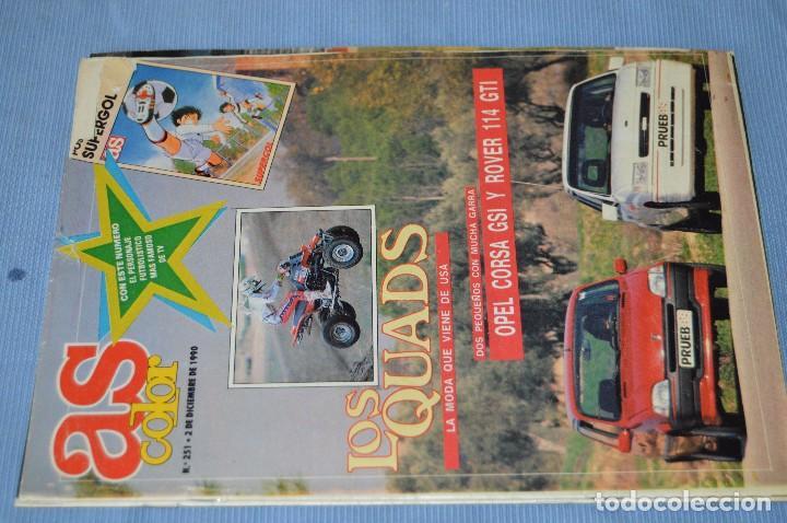 Coleccionismo deportivo: Lote 5 Revistas - AS Color - Años 80 / 90 - Núm 160, 209, 251, 254 y 273 - Están completos - ¡Mira! - Foto 6 - 99929239