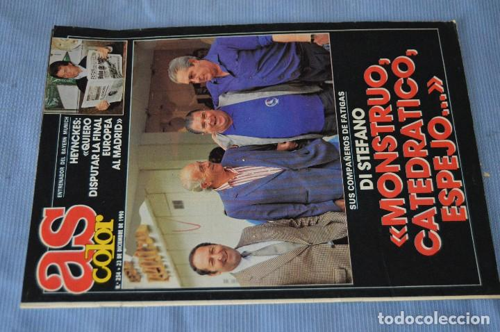 Coleccionismo deportivo: Lote 5 Revistas - AS Color - Años 80 / 90 - Núm 160, 209, 251, 254 y 273 - Están completos - ¡Mira! - Foto 9 - 99929239