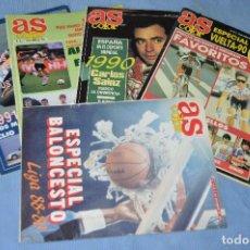 Coleccionismo deportivo: LOTE 5 REVISTAS - AS COLOR - AÑOS 80 / 90 - NÚM 146, 219, 253, 257, Y 312 - ESTÁN COMPLETOS - ¡MIRA!. Lote 99932439