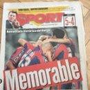 Coleccionismo deportivo: SPORT 13 MARZO 1997 REMONTADA HISTORICA BARCELONA 5-4 ATLETICO MADRID. Lote 99941475