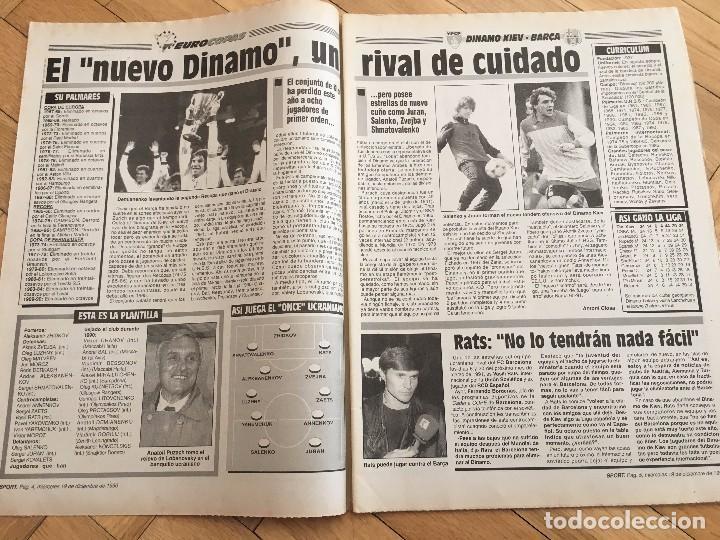 Coleccionismo deportivo: PERIODICO SPORT 1990 BARCELONA SPARTAK MOSCOW RECOPA EUROPA - Foto 5 - 99942235