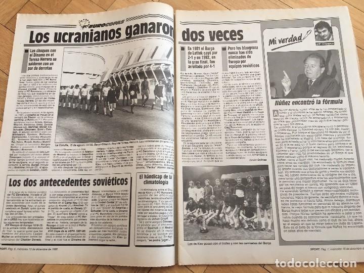 Coleccionismo deportivo: PERIODICO SPORT 1990 BARCELONA SPARTAK MOSCOW RECOPA EUROPA - Foto 7 - 99942235