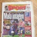 Coleccionismo deportivo: PERIODICO SPORT 1998 ATLETICO MADRID 5-2 BARCELONA GOLAZO RIVALDO. Lote 99943111