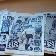 Coleccionismo deportivo: PERIODICOS ANTIGUOS AS LOTE DE 28 PERIODICOS AÑOS 80 EN GENERAL BUEN ESTADO . Lote 100085351